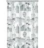Spirella Vegas Black Polyester Shower Curtain