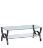 Spring Glass Center Table in Wenge Colour by @ Home
