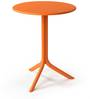 Nardi Spritz Solid Round Table in Arancio Finish by Patios
