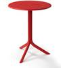 Nardi Spritz Solid Round Table in Rosso Finish by Patios