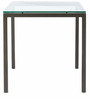 Square Four Seater Dining Table in Matte Black Colour by Asian Arts