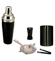 SS Silverware Stainless Steel Black Color Cocktail Set - Set of 5