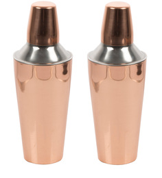SS Silverware Stainless Steel Cocktail Shaker - Set of 2