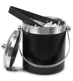 SS Silverware Stainless Steel Ice Bucket with Ice Tong