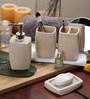 SS Silverware Cream Ceramic Bathroom Accessories - Set of 4