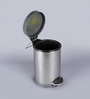 SS Silverware Plain Grey 11 L Pedal Dustbin with Lid