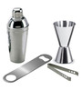 SS Silverware Stainless Steel 4-piece Bar Tool Set