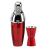 SS Silverware Stainless Steel Red Color Cocktail Shaker with Peg Measure