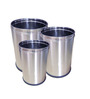 SS Silverware 5 L Open Dustbin - Set of 3