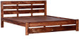 Stanwood King Size Bed in Warm Walnut Finish by Woodsworth