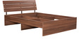Star Queen size Bed in Walnut Finish by Pine Crest