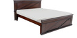 Step design King size Bed  in Brown colour by Looking Good Furniture