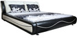 Stephano King Bed in Black Colour by Lalco Interiors