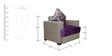 Straight Line (3 + 1 + 1) Seater Sofa Set in Purple & Grey Colour by RVF