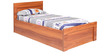 Sturdy Single Bed in English Teak Finish by Kurl-On
