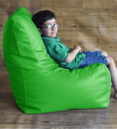 Style HomeZ Parrot Green XL Chair Shaped Bean Bag