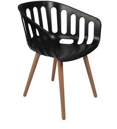 Stacking Chair in Black Colour by Ventura