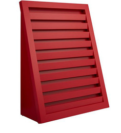 Stair Magazine Rack In Red Colour By Asian Arts