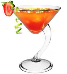 Stallion Barware Unbreakable Dizzy Cocktail Glass - 210 ML - Pack of 2