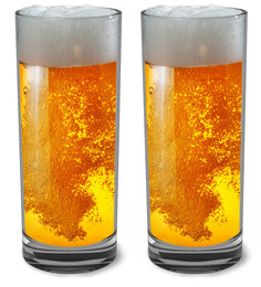 Stallion Barware Unbreakable High Ball Beer Glass - 300 ML - Pack of 6
