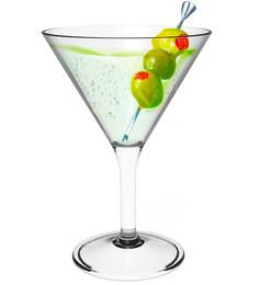 Stallion Barware Unbreakable Topaz Cocktail Glass - 300 ML - Pack of 6
