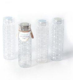 Steelo Premium Solitaire Pet 1000 ML Water Bottles - Set of 8