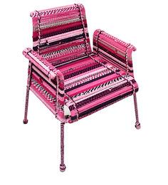 Stork Chair In Shades Of Fuchsia by Sahil Sarthak Designs