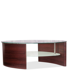 Stuart Oval Coffee Table in Brown Colour by Durian