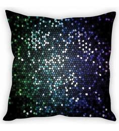 Stybuzz Blue Silk 16 X 16 Inch Design In Shades Cushion Cover