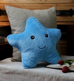 Stybuzz Blue Velvet 12 X 12 Inch Cute Star Abstract Cushion Cover With Insert