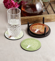 Stybuzz Enchanting Trees MDF Coasters - Set Of 4