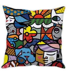 Stybuzz Graffiti Art Multi Colour Silk Cushion Cover