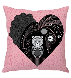 Stybuzz Multi-color Poly-silk Abstract Night Owl Cushion Cover Set Of 1