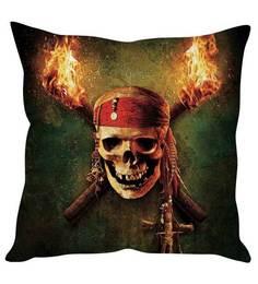 Stybuzz Green Silk 16 X 16 Inch Pirates Of Caribbean Cushion Cover