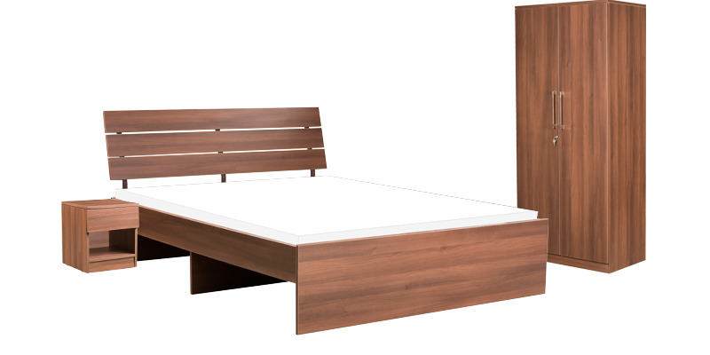 Star Bedroom Set in Walnut Finish by Pine Crest
