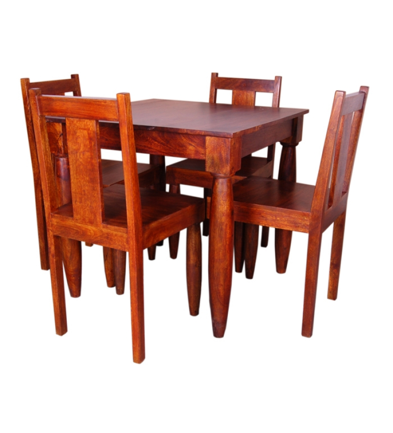 Olida Stylish Mango Wood Four Seater Dining Set by Mudra  : Stylish Mango Wood Dining Table Set 55003 1343196073Yn5MDt from www.pepperfry.com size 800 x 880 jpeg 209kB