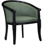Stalley Arm Chair in Green Color with Espresso Walnut Finish by Amberville