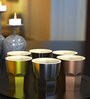 Stallion Barware Unbreakable Gold-Silver-Copper Vintage 300 ML Whiskey Glass - Set of 6