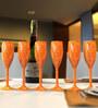 Stallion Barware Unbreakable Harbour Wood Finish Flute 170 ML Champagne Glass - Set of 6