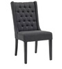 Stately Button Tufted Wingback Chair in Grey Colour by Afydecor