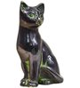 Statue Studio Black Brass 4 x 3 x 6 Inch Cat Showpiece