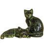 Statue Studio Black Brass 7 x 5 x 8 Inch Cat Pair Showpiece