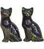 Statue Studio Black Brass 4 x 6 Inch Cats Pair Showpiece