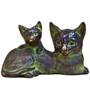 Statue Studio Black Brass 6 x 4 x 4 Inch Cats Showpiece