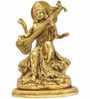 Statue Studio Golden Brass Goddess Saraswati Statue