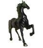 Statue Studio Black Brass 11 x 3 x 10 Inch Horse Showpiece