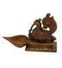 Statue Studio Yellow Brass Prayer Intricate Design Diya