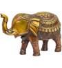 Statue Studio Red Brass 7 x 3 x 6 Inch Elegant Elephant Statue Showpiece