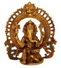 Statue Studio Gold Yellow Brass Ganesha with Ring Statue