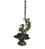 Statue Studio Bronze Brass Peacock Intricate Design Hanging Diya